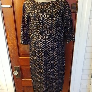 Vintage 60s Black Overlay Lace Dress